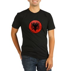 Albania Organic Men's Fitted T-Shirt (dark)