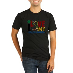 I Love My Autistic Daughter 2 Organic Men's Fitted T-Shirt (dark)