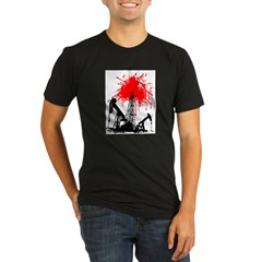 Oil of blood Organic Men's Fitted T-Shirt (dark)