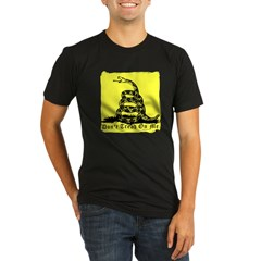 Don't Tread On Me Gadsden Organic Men's Fitted T-Shirt (dark)
