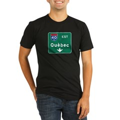 Quebec, Canada Hwy Sign Organic Men's Fitted T-Shirt (dark)