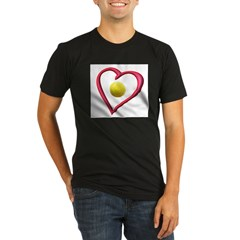 Love Tennis Organic Men's Fitted T-Shirt (dark)