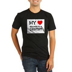My Heart Belongs To A DENTIS Organic Men's Fitted T-Shirt (dark)