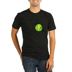 Tennis: Serve Others Organic Men's Fitted T-Shirt (dark)
