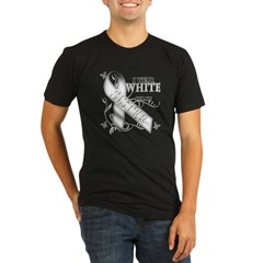 I Wear White for my Sister Organic Men's Fitted T-Shirt (dark)
