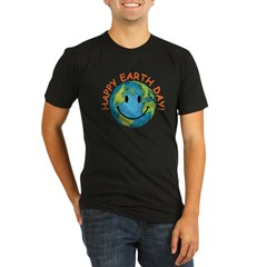 Happy Earth Day Organic Men's Fitted T-Shirt (dark)