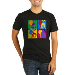 Pop Art Wine Organic Men's Fitted T-Shirt (dark)