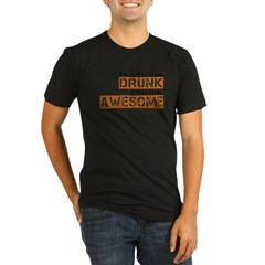 Drunk Awesome Organic Men's Fitted T-Shirt (dark)