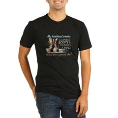 My Husband Wears Combat Boots Organic Men's Fitted T-Shirt (dark)