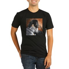 Borzoi by Dawn Secord Organic Men's Fitted T-Shirt (dark)