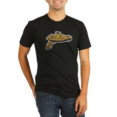 Brown Ray Gun Organic Men's Fitted T-Shirt (dark)