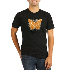 MS Butterfly Organic Men's Fitted T-Shirt (dark)