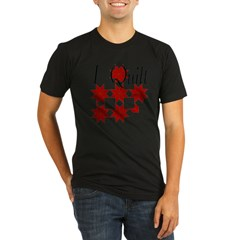 Star Quilt Pattern Organic Men's Fitted T-Shirt (dark)