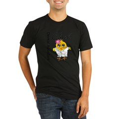 Dental Assistant Chick Organic Men's Fitted T-Shirt (dark)
