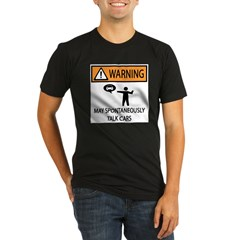 Car Talk Warning Organic Men's Fitted T-Shirt (dark)