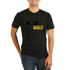 Black Gold Oil Organic Men's Fitted T-Shirt (dark)