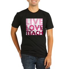 Live Love Teach Organic Men's Fitted T-Shirt (dark)