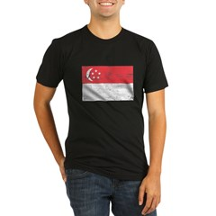 Singapore Flag Organic Men's Fitted T-Shirt (dark)