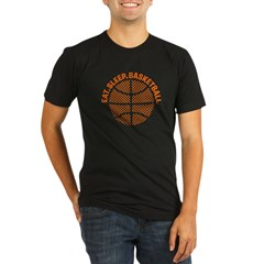 Basketball Organic Men's Fitted T-Shirt (dark)