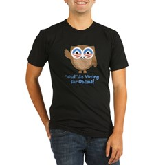 Obama Owl Organic Men's Fitted T-Shirt (dark)