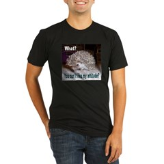 My Attitude Hedgehog Ash Grey Organic Men's Fitted T-Shirt (dark)
