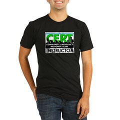 CERT Instructor Organic Men's Fitted T-Shirt (dark)