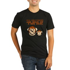 BIG BROTHER monkey Organic Men's Fitted T-Shirt (dark)