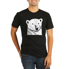 Andy the polar bear plain black Organic Men's Fitted T-Shirt (dark)