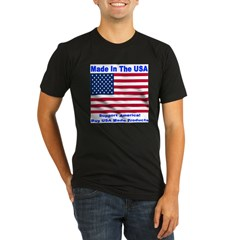 Made In The USA Organic Men's Fitted T-Shirt (dark)