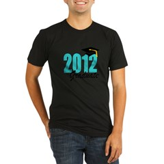 2012 graduate aqua Organic Men's Fitted T-Shirt (dark)
