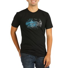 Particle Physics Gives Me A Large Hadron Organic Men's Fitted T-Shirt (dark)