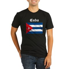 Cuban Flag Organic Men's Fitted T-Shirt (dark)