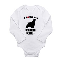 I Love my Springer Spaniel ~ Infant Creeper Long Sleeve Infant Bodysuit