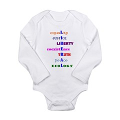 I am Liberal Infant Creeper Long Sleeve Infant Bodysuit
