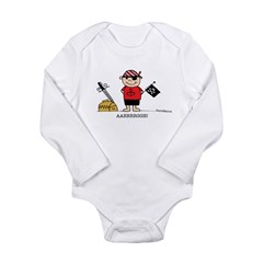 Pirate Boy 1 Long Sleeve Infant Bodysuit