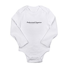 Professional Organizer Clock Long Sleeve Infant Bodysuit