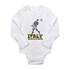 Italy2 Kids Long Sleeve Infant Bodysuit