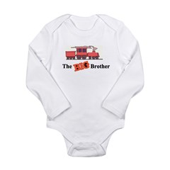 Big Brother - Trains Long Sleeve Infant Bodysuit