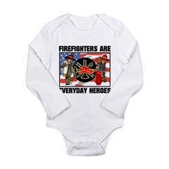 Firefighter Heroes Long Sleeve Infant Bodysuit