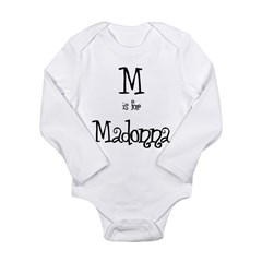 M Is For Madonna Infant Creeper Long Sleeve Infant Bodysuit