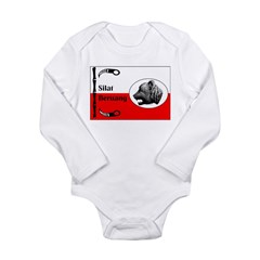 Silat Beruang Infant Creeper Long Sleeve Infant Bodysuit