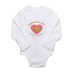 Guinea Pig girl Long Sleeve Infant Bodysuit