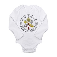 4 Marks of the Church - Latin Infant Creeper Long Sleeve Infant Bodysuit