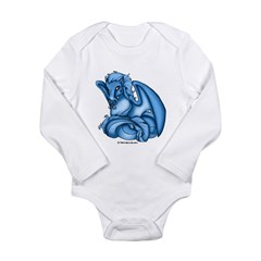 Blue Dray Infant Creeper Long Sleeve Infant Bodysuit