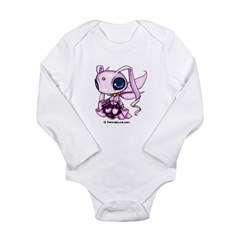 Pink Space Sprite Infant Creeper Long Sleeve Infant Bodysuit