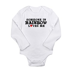 Rainbow: Loves Me Infant Creeper Long Sleeve Infant Bodysuit