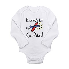 Daddy's lil' Co-Pilot Infant Creeper Long Sleeve Infant Bodysuit