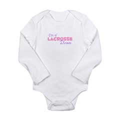 I'm a Lacrosse diva Infant Creeper Long Sleeve Infant Bodysuit
