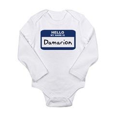 Hello: Damarion Long Sleeve Infant Bodysuit