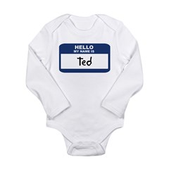 Hello: Ted Long Sleeve Infant Bodysuit